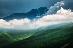 Halni szczyty Wielki Kaukaz Zdjęcia Royalty Free