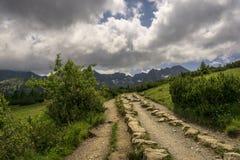 Halny ślad w Tatrzańskich górach Polska Obrazy Royalty Free
