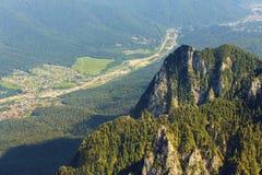 Halny dolinny górny widok Obrazy Stock