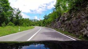 Halny drogowy czapeczka widok blisko Rabac, Chorwacja zdjęcie wideo