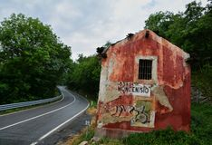 Halny drogowy Moncenisio w Włochy Obraz Stock