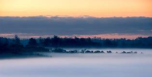 halny dymiący wschód słońca Zdjęcie Royalty Free