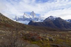 Halny Fitz Roy w Patagonia zdjęcia royalty free