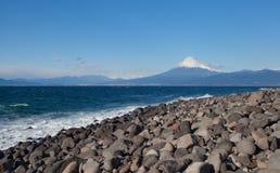 Halny Fuji i Japonia morze Obrazy Royalty Free