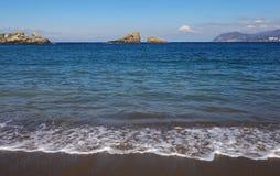 Halny Fuji i morze Obrazy Royalty Free