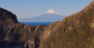Halny Fuji i morze Zdjęcia Stock