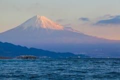 Halny Fuji i morze Fotografia Stock