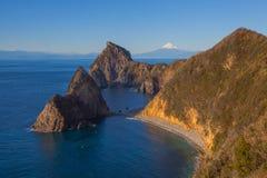 Halny Fuji i morze Obrazy Stock