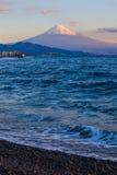 Halny Fuji i morze przy Miho żadny Matsubara Obraz Royalty Free
