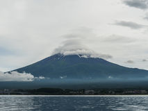 Halny Fuji Kawaguchiko i jezioro, Yamanashi Japonia Obrazy Royalty Free