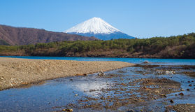 Halny Fuji w wiosna sezonie fotografia royalty free