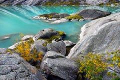 Halny Glacjalny jezioro, Norwegia Zdjęcie Royalty Free