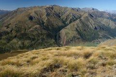 Halny grzebień w górze Aspiruje parka narodowego Obrazy Royalty Free
