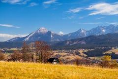 Halny jesień krajobraz obraz stock