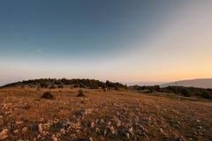 Halny jesień krajobraz Obrazy Stock