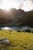 Halny jeziorny Mzy w Abkhazia zdjęcie royalty free
