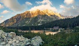 Halny jeziorny Popradske w Wysokim Tatras Zdjęcie Royalty Free