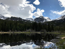 Halny Jeziorny Vista Obraz Royalty Free
