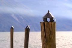 Halny jeziorny widok, pokój i zaciszność, obraz stock