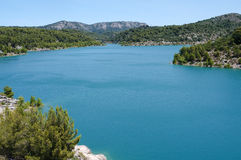 Halny jezioro Fotografia Royalty Free