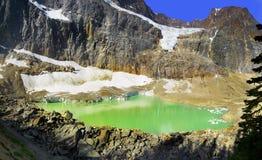 Halny jezioro i lodowiec Zdjęcia Royalty Free