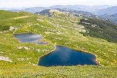 Halny jezioro krajobraz Toskanka Appennini, Włochy Zdjęcie Stock