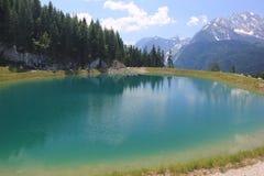Halny jezioro w Bavaria, Niemcy Fotografia Stock