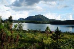 Halny jezioro w Da Lat Wietnam Zdjęcie Stock