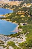 Halny jezioro w 5 jeziorach dolinnych w Tatrzańskich górach, Polska Obraz Royalty Free