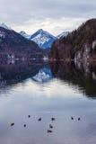 Halny jezioro w zimie Fotografia Stock