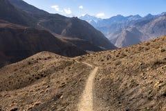 Halny ślad w himalajach, mustang Nepal Fotografia Royalty Free