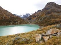 Halny lodowa regionu jezioro Silvretta Obraz Royalty Free
