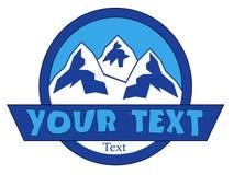 Halny logo zdjęcia stock