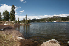 Halny Mały Niedźwiadkowy jezioro, Wyoming, usa Obraz Royalty Free