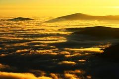 Halny morze chmury Fotografia Stock