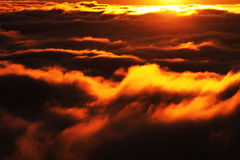 Halny morze chmury Obraz Royalty Free
