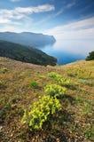 Halny morze krajobraz Obrazy Royalty Free