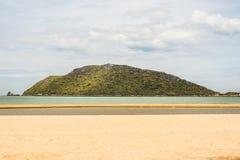 Halny morze w Prachuab Kiri Khan Zdjęcie Royalty Free