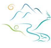 Halny natura logo royalty ilustracja