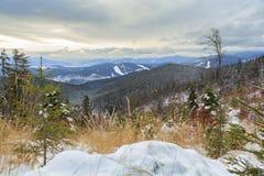 Halny śnieg Obraz Royalty Free