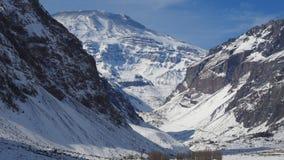Halny śnieg n Chile i krajobraz Obraz Royalty Free