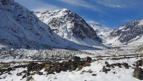 Halny śnieg n Chile i krajobraz Zdjęcie Royalty Free