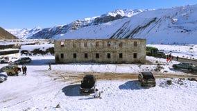 Halny śnieg n Chile i krajobraz Zdjęcia Royalty Free