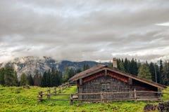 Halny paśnik przy morzem królewiątka w Berchtesgaden Zdjęcia Stock