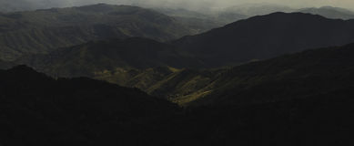 Halny panorama krajobraz przy Nan, Tajlandia Zdjęcia Stock