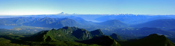 halny panoramiczny pasmo Fotografia Stock