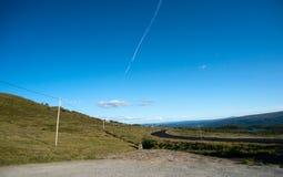 Halny plateau Valdresflye, Jotunheimen Obraz Royalty Free