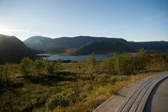 Halny plateau Valdresflye, Jotunheimen Zdjęcia Stock
