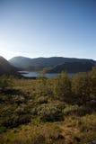 Halny plateau Valdresflye, Jotunheimen Fotografia Stock