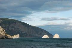 halny pobliski morze Obraz Stock